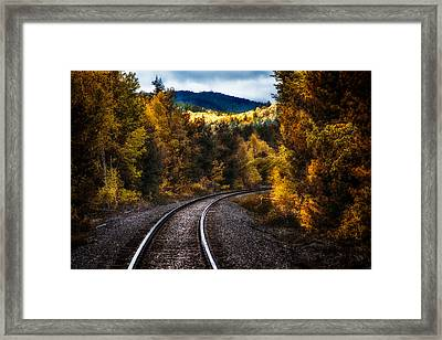 Tracks Through The Mountains  Framed Print by Bob Orsillo