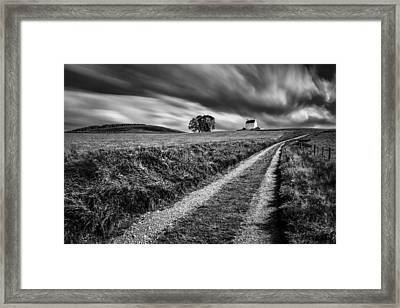 Tracks To Corgarff Castle Framed Print by Dave Bowman
