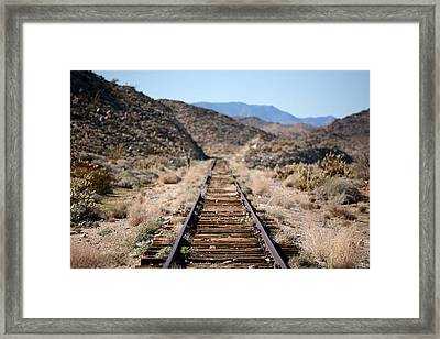 Tracks To Nowhere Framed Print by Peter Tellone