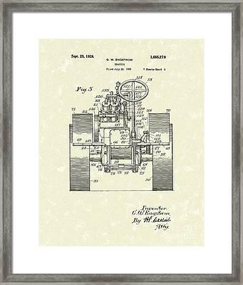Tractor 1928 Patent Art Framed Print