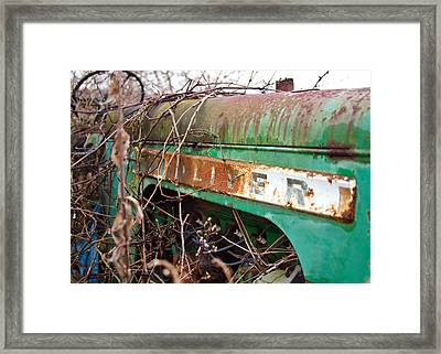 Tractor And Weeds  Framed Print