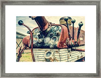 Tractor Dash - Farmall 560 Diesel Framed Print by Gary Heller