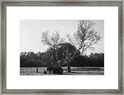Tractor For Sale Framed Print by Steven  Taylor