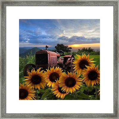 Tractor Heaven Framed Print by Debra and Dave Vanderlaan