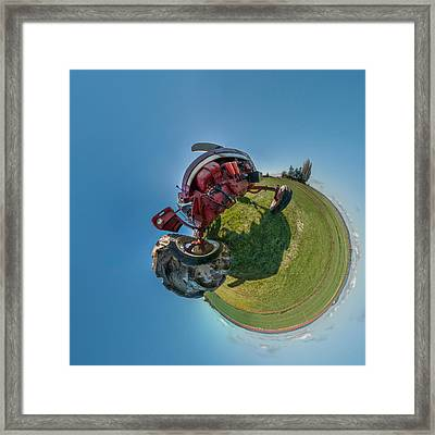 Tractor In A Field, Everett, Snohomish Framed Print by Panoramic Images
