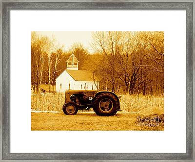 Tractor In The Field Framed Print