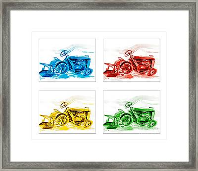Tractor Mania  Framed Print