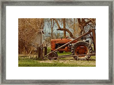 Tractor On Us 285 Framed Print