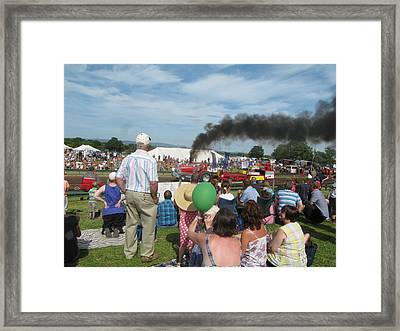 Tractor Pulling Framed Print