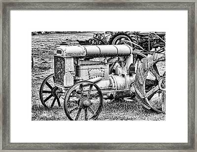 Tractor Framed Print by Ron Roberts