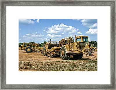 Tractor Scraper Framed Print