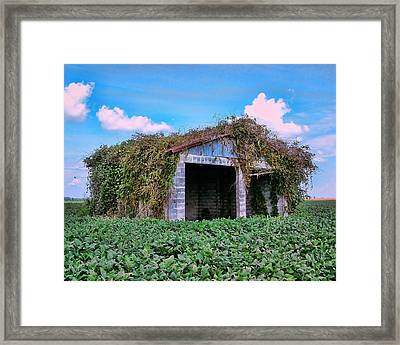 Framed Print featuring the photograph Tractor Shack by Victor Montgomery