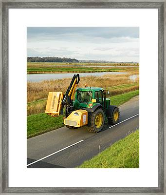 Tractor Framed Print by Sharon Lisa Clarke