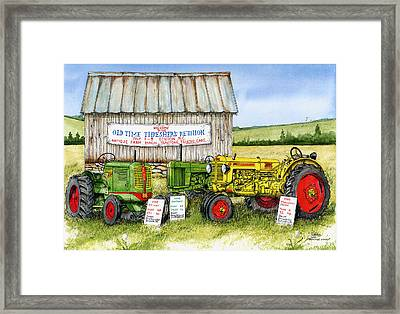 Tractor Show-old Time Threshers' Reunion Framed Print by Larry Johnson