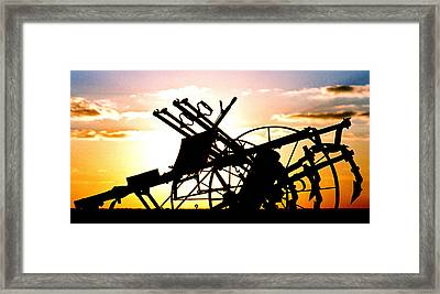 Framed Print featuring the photograph Tractor Silhouette by Kimberleigh Ladd