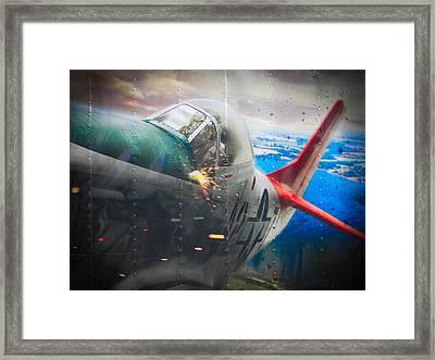Tractor Trailer Art Framed Print