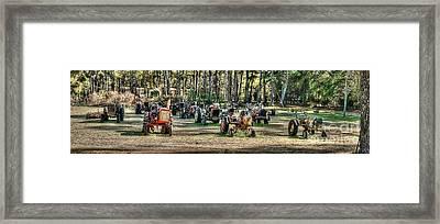 Tractor Yard Framed Print by Baltzgar