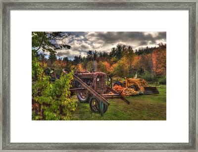 Tractors And Pumpkins Framed Print by Joann Vitali