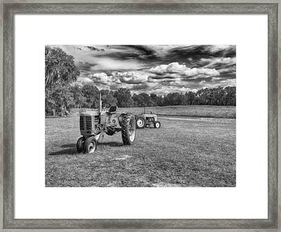 Framed Print featuring the photograph Tractors by Howard Salmon