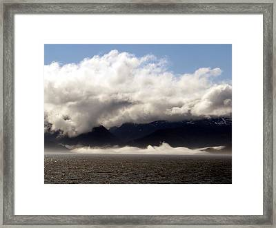 Framed Print featuring the photograph Tracy Arm Fjord by Jennifer Wheatley Wolf