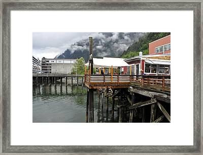 Tracys Crab Shack Framed Print by Cathy Mahnke