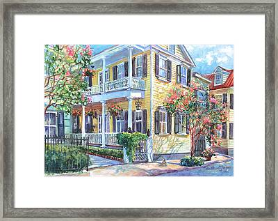 Tradd Street Textures Framed Print by Alice Grimsley