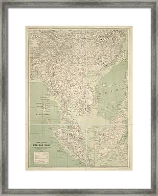 Trade Routes In The Far East Framed Print