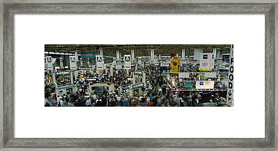 Trade Show In A Hall, Mccormick Place Framed Print by Panoramic Images