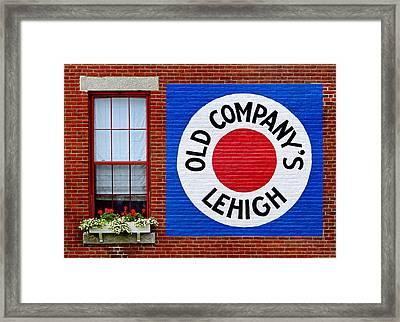 Trademark Sign Framed Print by Carolyn Derstine