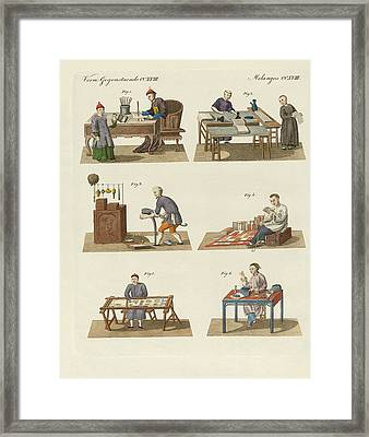 Trades Arts And Handworks In China Framed Print by Splendid Art Prints