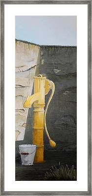 Tradional Irish Roadside Pump Framed Print by Siobhan Lawson