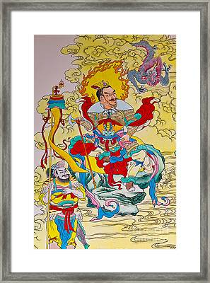Tradition Chinese Paintingemple Wall Framed Print by Tosporn Preede