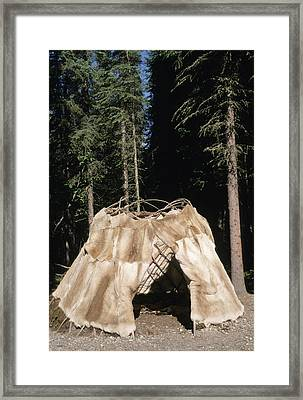 Traditional Athabaskan Dome Shaped Framed Print