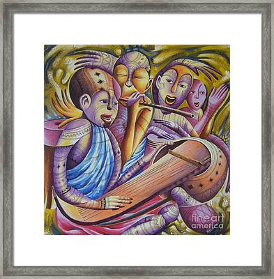 Traditional Band From East Africa  Framed Print by Masoud Kibwana
