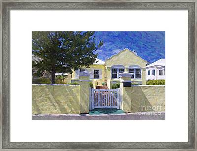 Framed Print featuring the photograph Traditional Bermuda Home by Verena Matthew