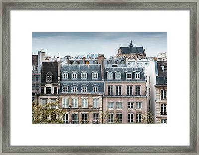 Traditional Buildings In Paris Framed Print