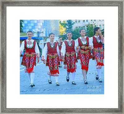 Traditional Bulgarian Ensemble Framed Print