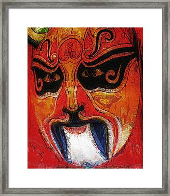 Traditional Chinese Opera Mask Framed Print