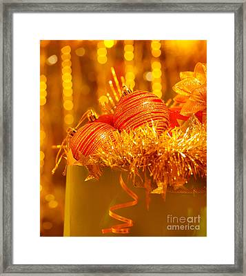 Traditional Christmas Decoration Framed Print by Anna Om