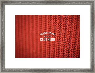 Framed Print featuring the digital art Traditional Clothing by Mike Taylor
