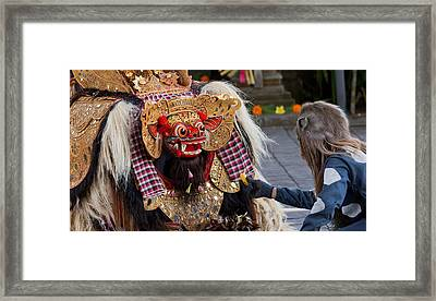 Traditional Dance - Bali Framed Print by Matthew Onheiber