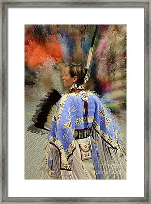 Pow Wow Traditional Dancer 2 Framed Print by Bob Christopher