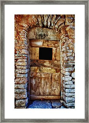 Traditional Door 3 Framed Print by Emmanouil Klimis
