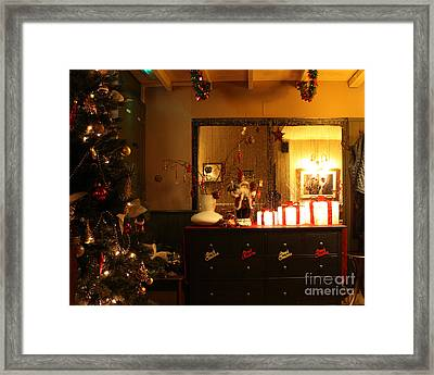 Traditional English Christmas Framed Print