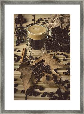Traditional Espresso II Framed Print