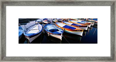 Traditional Fishing Boats Framed Print by Panoramic Images