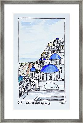 Traditional Greek Architecture Framed Print