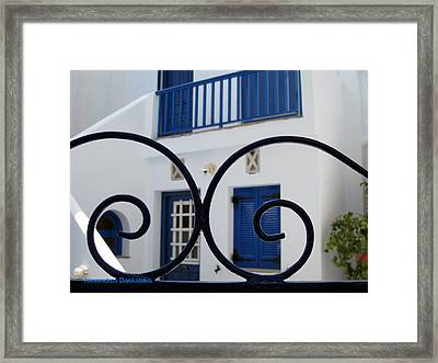 Traditional Greek House Framed Print by Alexandros Daskalakis