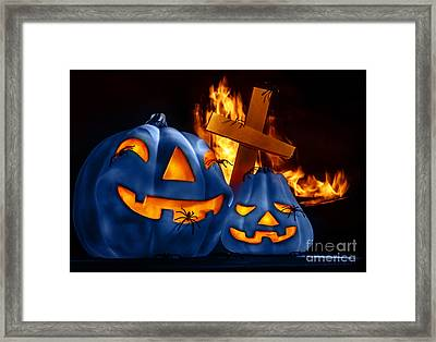 Traditional Halloween Decorations Framed Print