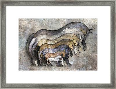 Traditional Horses Framed Print by Betsy Knapp